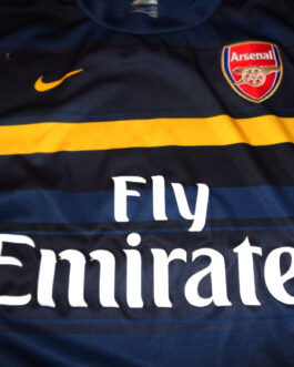 2009/10 ARSENAL LONDON Training Football Shirt M Medium Navy Blue Nike