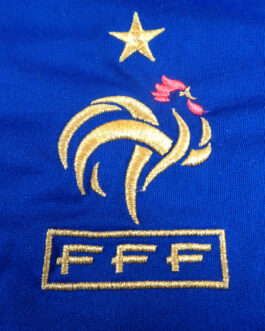 2009/10 FRANCE Home Football Shirt M Medium Blue Adidas