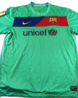 2010/11 BARCELONA FCB Football Away Shirt L Large Green Nike