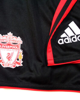 2010/11 LIVERPOOL Away Football Shorts L Large Black Adidas