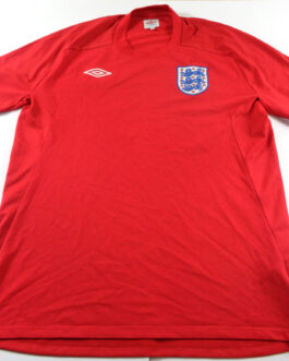 2010/12 ENGLAND Away Football Shirt L Large Red Umbro