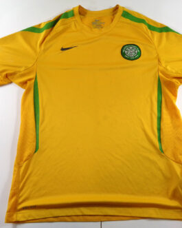 CELTIC GLASGOW 2011/12 Training Football Shirt L Large Yellow Nike