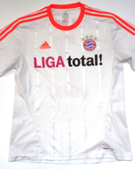 2012/13 BAYERN MUNICH Football Away Shirt L Large White Adidas #7 Franck RIBERY