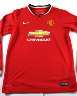 2014/15 MANCHESTER UNITED Home Football L/S Shirt XLB Extra Large Boys Red Nike