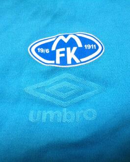 2014/15 MOLDE FK Training Cotton Football Shirt M Medium Blue Umbro Norway