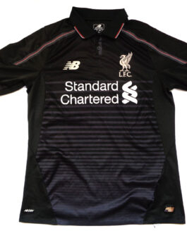 2015/16 LIVERPOOL Third 3Kit Shirt S Small Black New Balance