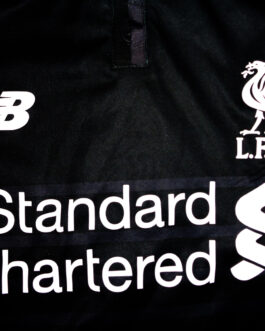 2015/16 LIVERPOOL Third 3Kit Football Shirt LB Large Boys Black New Balance
