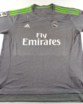 2015/16 REAL MADRID Football Away Shirt XL Extra Large Grey Adidas