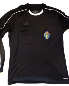 2015/16 SWEDEN Referee Football Long Sleeve Shirt L Large Black Adidas