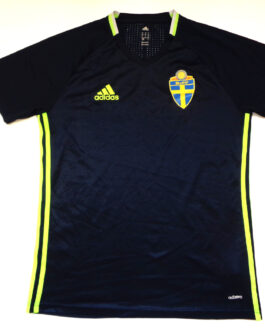 2015/16 SWEDEN Training Football Shirt M Medium Navy Blue Adidas
