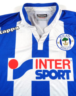 2015/16 WIGAN ATHLETIC Home Shirt L Large Blue Kappa