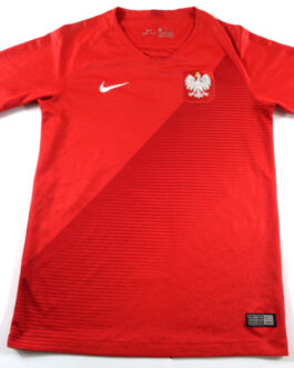 2018/19 POLAND Away Football Shirt LB Large Boys Red Nike