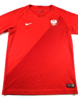 2018/19 POLAND Away Football Shirt XLB Extra Large Boys Red Nike