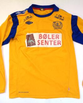BOLER IF Away L/S Football Shirt L Large Yellow Umbro Norway #21