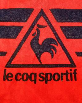 LE COQ SPORTIF Vintage 80s Football Shirt L Large Red Retro Oldschool Kit