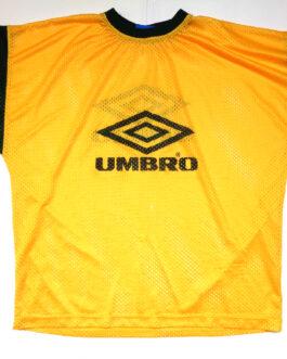 UMBRO 90s Training Vintage Football Shirt Casual Classic Yellow M Medium