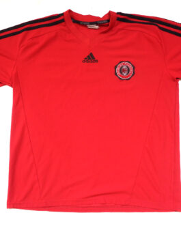 AC MILAN ACADEMY HOME Football Shirt L Large Red Adidas