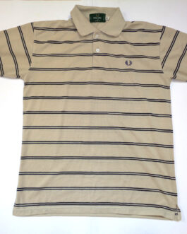 FRED PERRY Polo Shirt Casual Classic Beige Sand L Large