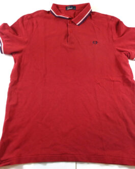 FRED PERRY Polo Shirt Casual Classic Maroon Red Size XL Extra Large