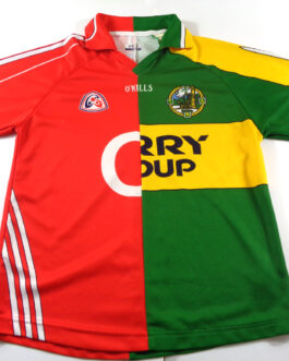 CIARRAI KERRY GAA O'Neills Half & Half Dual Shirt Gaelic Ireland Size S Small