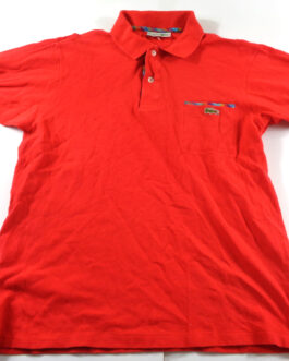 LACOSTE Polo Shirt Casual Classic Red Pocket Size S Small 4