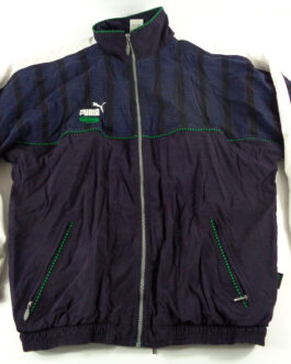 PUMA King 90s Tracksuit Vintage Track Jacket Casual Classic Navy Blue L Large