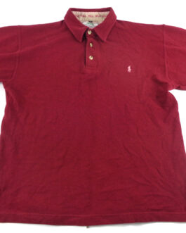 RALPH LAUREN Polo Shirt Casual Vintage Classic Maroon Red Size L Large