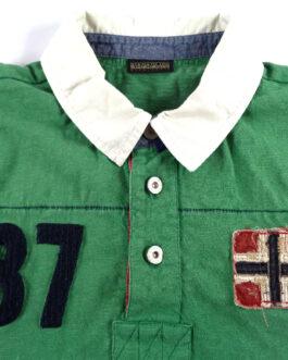 NAPAPIJRI Polo Shirt Casual Vintage Classic Green L Large
