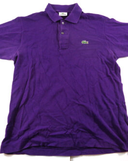 LACOSTE Polo Shirt Casual Classic Purple Size S Small 3