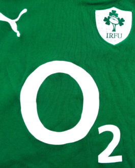 IRELAND RUGBY Puma Green Shirt Jersey Rugby Union L Large
