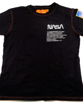 Heron Preston NASA Black Short Sleeve T-Shirt M Medium Black Authentic