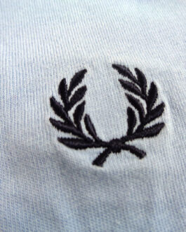 FRED PERRY T-Shirt Casual Classic Light Blue Size S Small