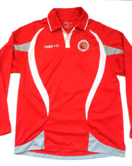 HUTTON FC Home L/S Football Shirt S Small Red Macron #6