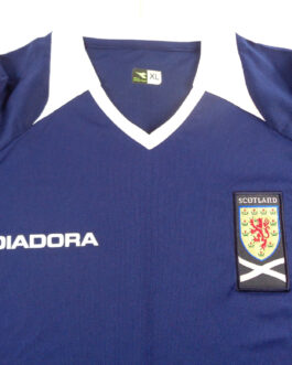 2008/10 SCOTLAND Home Football Shirt XL Extra Large Navy Blue Diadora