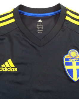 2014/15 SWEDEN Away Football Shirt L Large Navy Blue Adidas