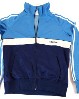 ADIDAS 80s Tracksuit Retro Vintage Track Jacket Casual Classic Blue S Small