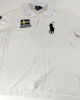 RALPH LAUREN Polo Shirt Casual Classic White Size XL Extra Large Sweden BIG PONY