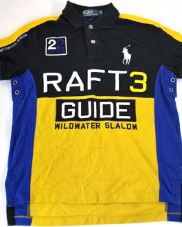 RALPH LAUREN Polo Shirt Casual Classic Raft Guide 3 Wildwater Slalom S Small