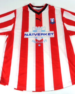 2002/03 MALMO FF Away Football Shirt L Large White Red Puma Sweden