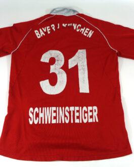 2005/06 BAYERN MUNICH Home Football Shirt M Medium Red Adidas #31 Bastian SCHWEINSTEIGER