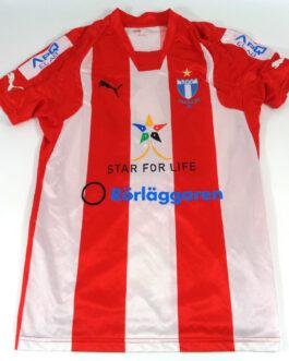 2007/08 MALMO FF Away Football Shirt S Small White Red Puma Sweden #12