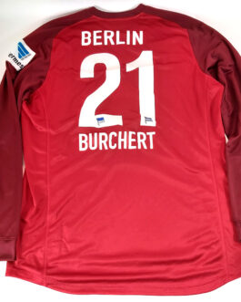2009/10 HERTHA BERLIN GK L/S Football Shirt XXL 2XL Red Nike #21 Sascha BURCHERT