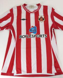 2009/10 SUNDERLAND Home Football Shirt M Medium Umbro