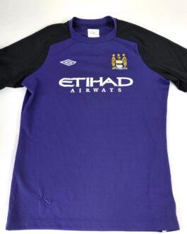 2011/12 MANCHESTER CITY Away Football Shirt XLB Extra Large Boys Purple Umbro