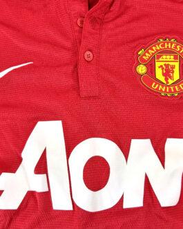 2013/14 MANCHESTER UNITED Home Football Shirt M Medium Red Nike