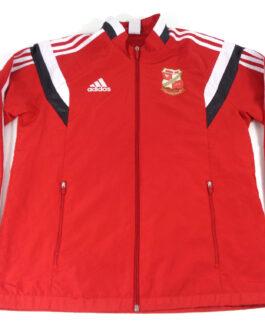 2013/14 SWINDON TOWN Training Track Top Football Shirt M Medium Red Adidas