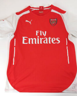 2014/15 ARSENAL LONDON Home Football Shirt M Medium Red Puma #4 MERTESACKER