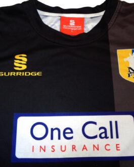 2014/16 MANSFIELD TOWN Away Football Shirt L Large Black Surridge
