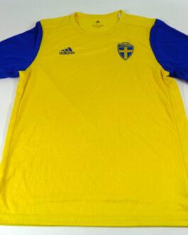2018/19 SWEDEN Training Football Shirt L Large Yellow Adidas