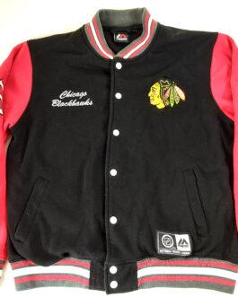 CHICAGO BLACKHAWKS Majestic Hockey NHL Blouse Sweatshirt L Large